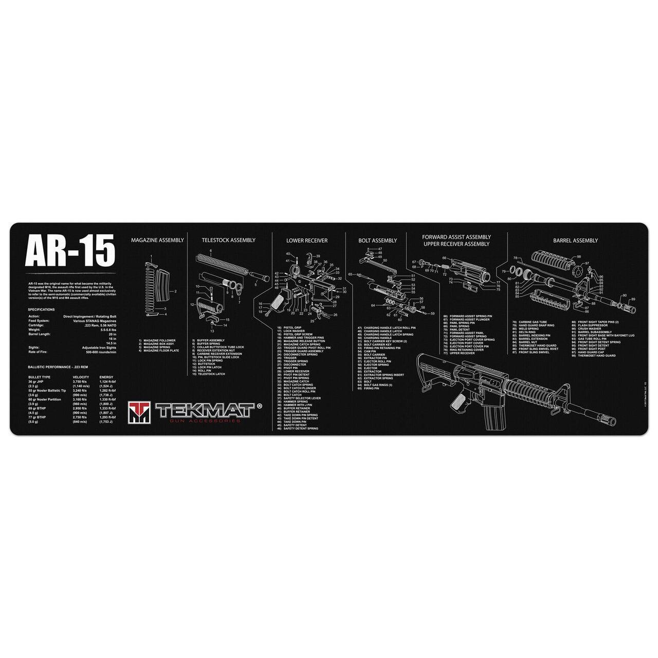 medium resolution of tekmat gun accessories armorer s bench tekmat ar 15 schematic mat ar 15 diagram 3 major components ar 15 diagram mat