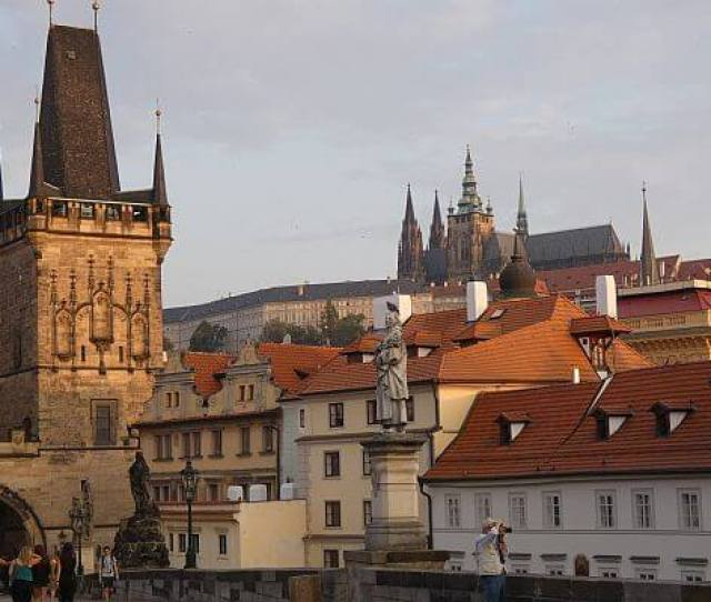 The Famous Castle In The Summer Tourist Season When Prague Prices Are High