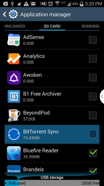 application management menu and view the downloaded apps on your phone.