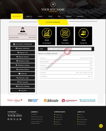 hyip website templates
