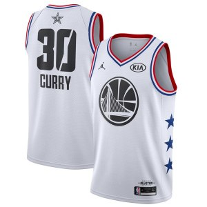 Men's Golden State Warriors Stephen Curry Jordan Brand White 2019 NBA All-Star Game Finished Swingman Jersey