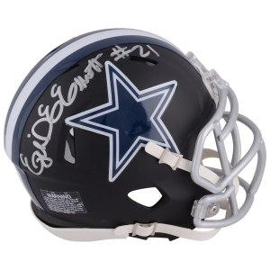 Autographed Dallas Cowboys Ezekiel Elliott Fanatics Authentic Riddell Black Matte Alternate Speed Mini Helmet