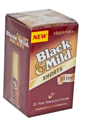 Black  Mild Cigars Shorts Wine Box  Cheap Little Cigars