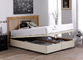 Fenton Open Spring Ottoman Bed  Firm  Beige  50 King