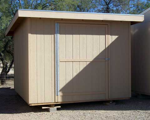 Lean To Style Single Slope Shed Plans With Porch 1195