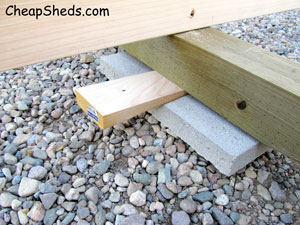 blocks and wedges to level