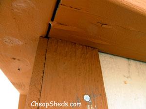 storage shed corner trim