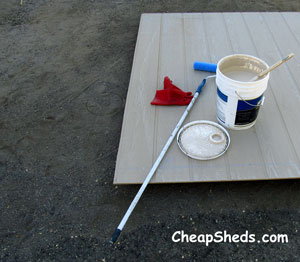 caulking and painting your storage shed