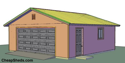 24x24-2-car-garage-gable-end-door