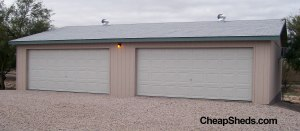 This is actually a 24x44 garage built with the 24x40 plans with 2 more feet between the doors.