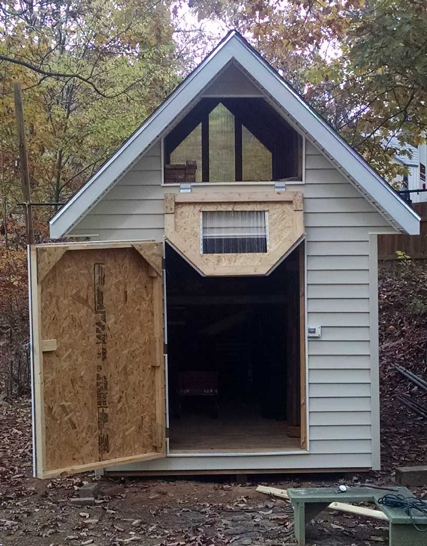 Deluxe gable roof shed photo gallery for Shed roofing