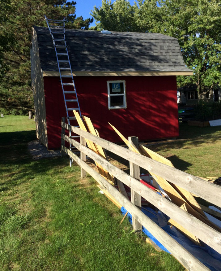 how to build a barn roof shed