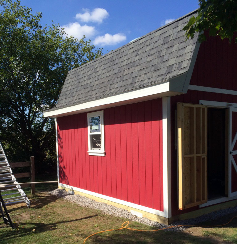 Free gambrel roof shed plans 12x16 for Shed styles