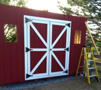 1216 Tall Barn Style Gambrel Roof Shed Plans