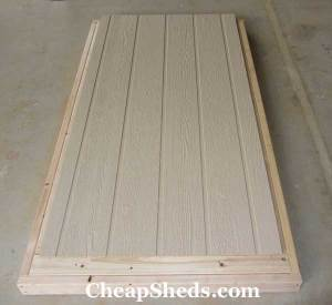 bicycle shed plans door sheeting