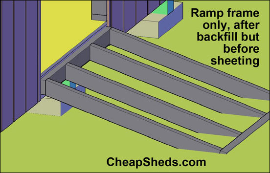 ramp ramps mega steel storage sheds dugule shed