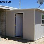 attached lean to style shed