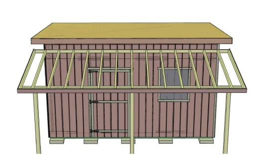 This view shows the various components of a porch.