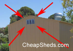 shed eave vent