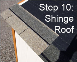 Step 10: Shingle Roof