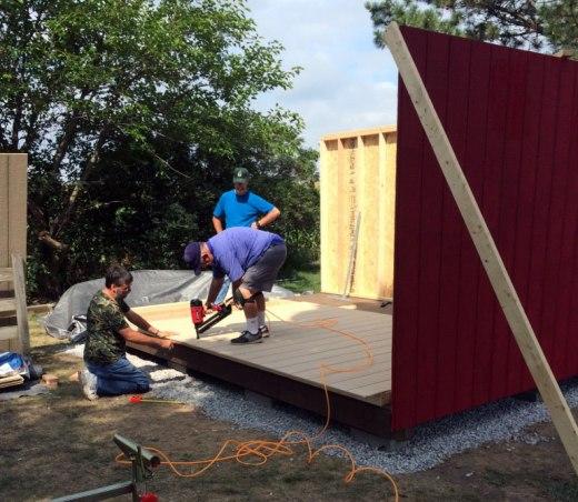 storage-shed-walls-nail-gun