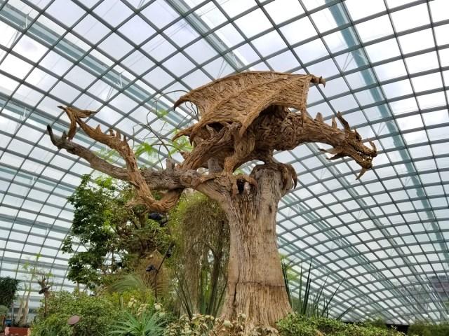 Dragon sculpture at the Singapore Botanic Gardens.
