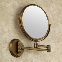 Antique Brass Finish Wall Mounted Bathroom Magnifying ...