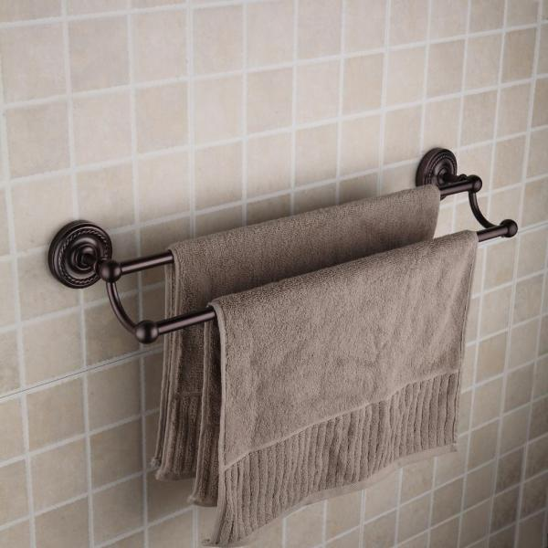 Oil Rubbed Bronze Double Towel Bar