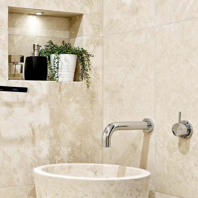 light travertine honed and filled stone tiles 600x600
