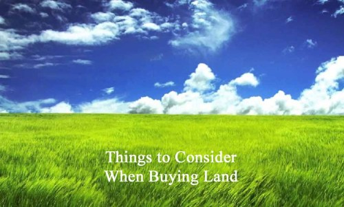 things to consider when buying land