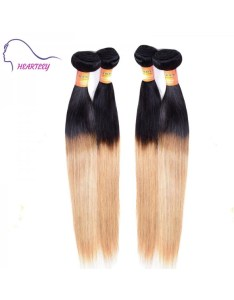 Heartley nature straight fashion hair weaves peruvian remy pcs ombre extensions also black to honey blonde weave lady   great choice rh cheapwigsales