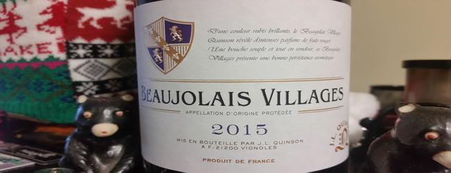J L Quinson Beaujolais Villages 2015