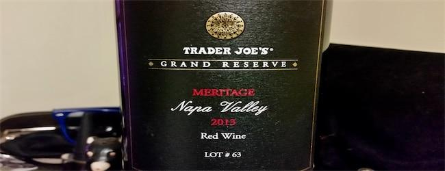 Trader Joe's Grand Reserve Meritage Napa Lot 63 2013