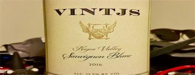 VINTJS Napa Valley Sauvignon Blanc 2016