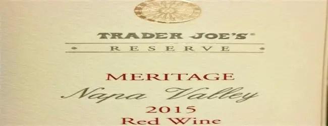 Trader Joe's Reserve Meritage Napa Valley Lot #176 2015
