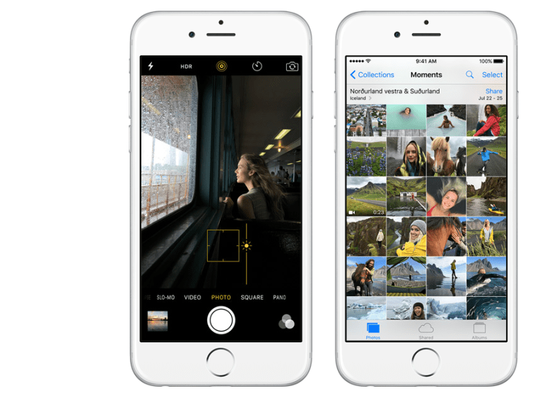 Camera and Photos apps in iOS 9