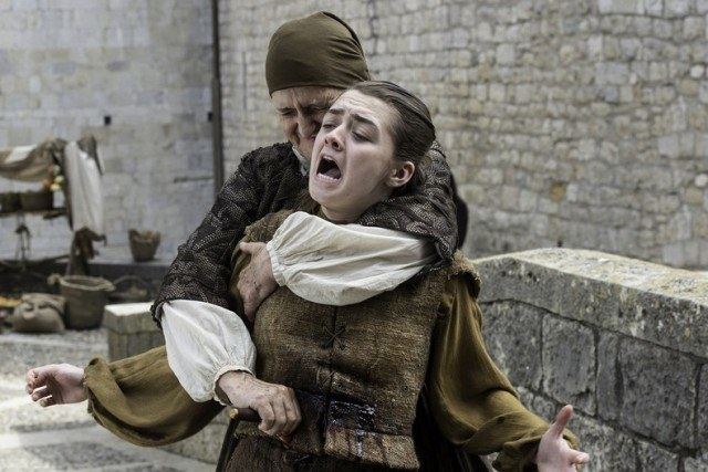 Arya being stabbed in a scene from Season 6 of HBO's 'Game of Thrones'
