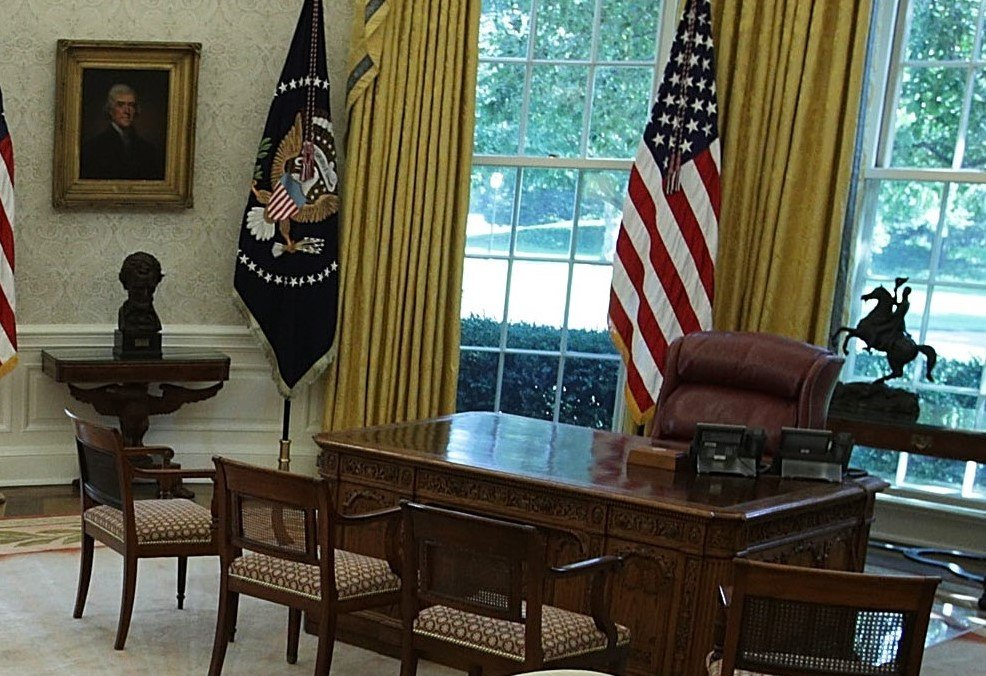 oval office chair table chairs sale this is the first thing donald trump changed in after obama moved out