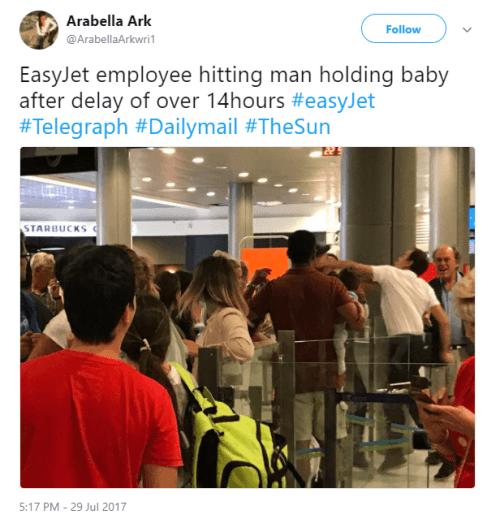 EasyJet Punching Passenger