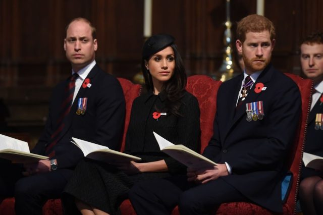 Prince William, Prince Harry, and Meghan Markle
