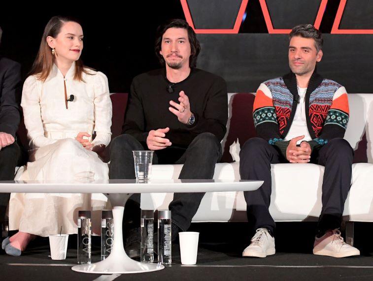 Daisy Ridley, Adam Driver and Oscar Isaac