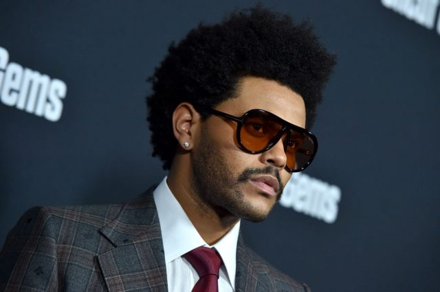 The Weeknd at the premiere of
