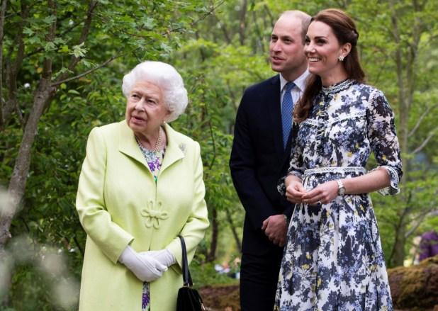 Queen Elizabeth Prince William Kate Middleton