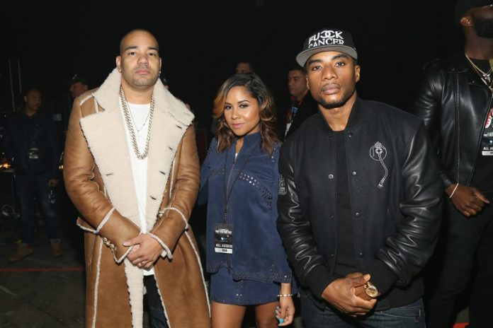 DJ Envy, Angela Young and Charlamagne Tha Dia