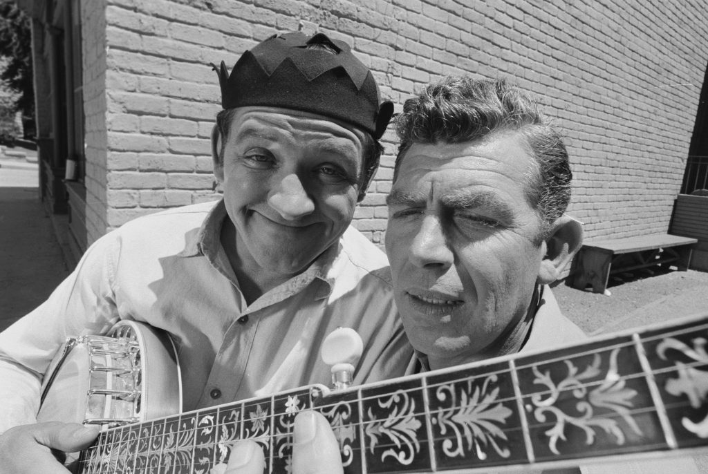 George Lindsey, left, and Andy Griffith