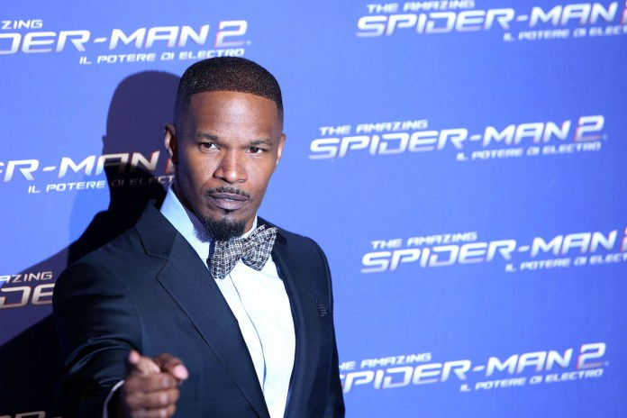 Jamie Foxx at the Roman premiere of 'The Amazing Spider-Man 2'