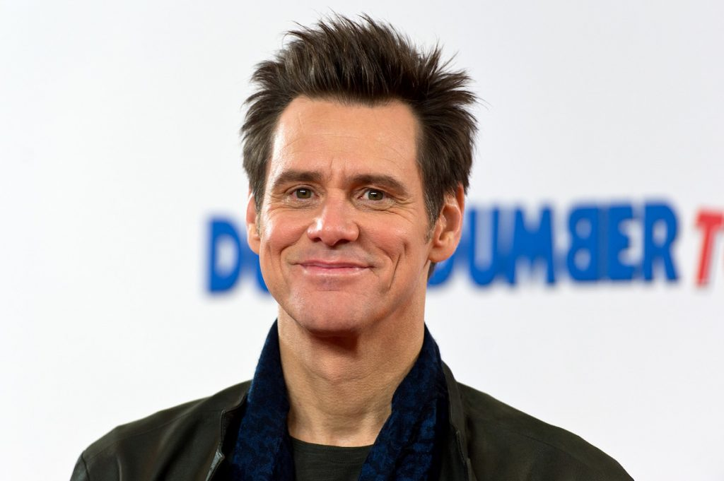 Jim Carrey at a photograph
