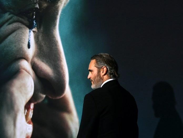 Joaquin Phoenix at the premiere of 'Joker'