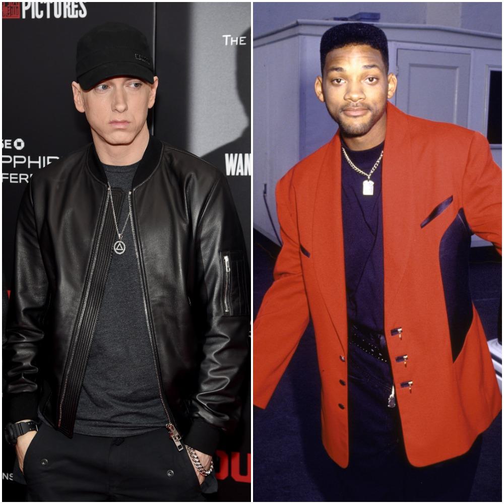 (L) Eminem, (R) Will Smith