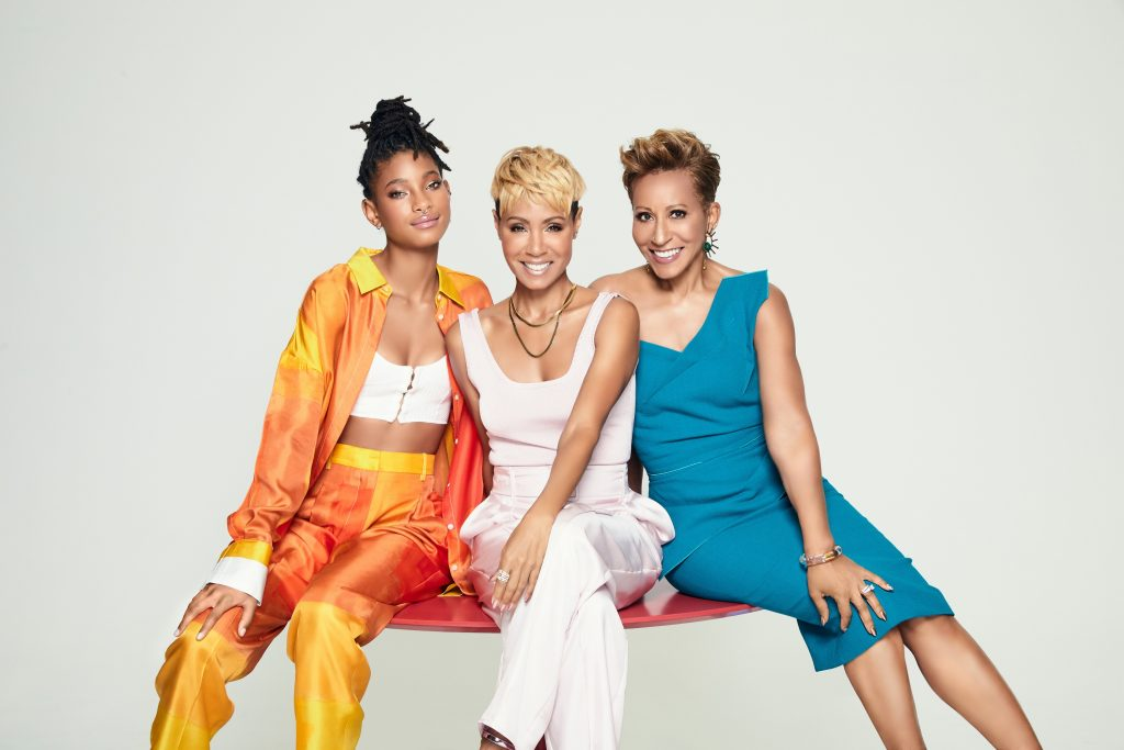 'Red Table Talk' stars Willow Smith, Adrienne Banfield-Norris, and Jada Pinkett Smith